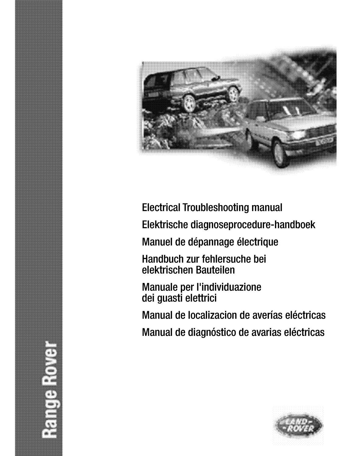 40 Models onward Range Rover Electrical Troubleshooting Manual ...