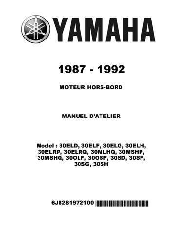 1987 1992 Yamaha 30hp 2 Stroke Outboard Repair Manual Pdf Download By Heydownloads Issuu