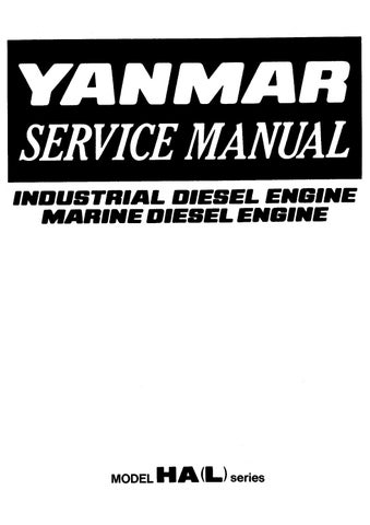 Yanmar 4hal 6hal Diesel Engine Shop Manual Pdf Download By Heydownloads Issuu