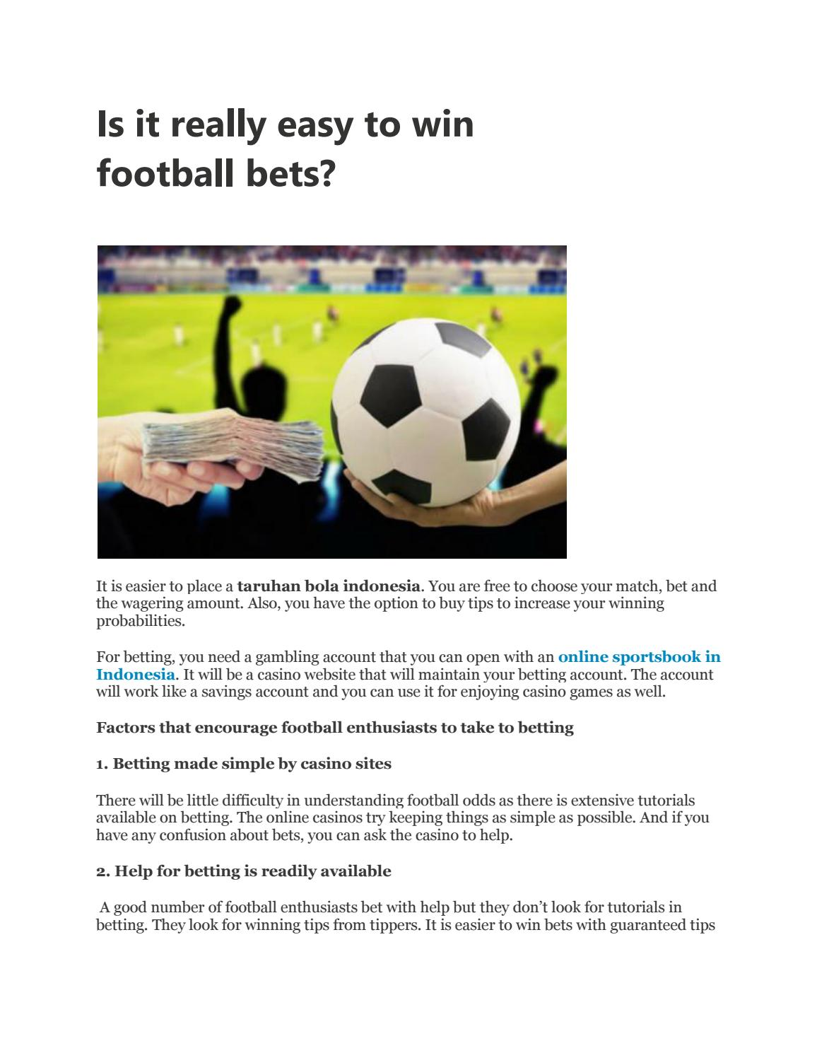 Understanding football online betting betting ooparts