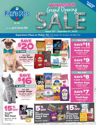 Ren S Pets Windsor Grand Opening Sale Aug 29 Sept 6 2020 By Ren S Pets Depot Issuu