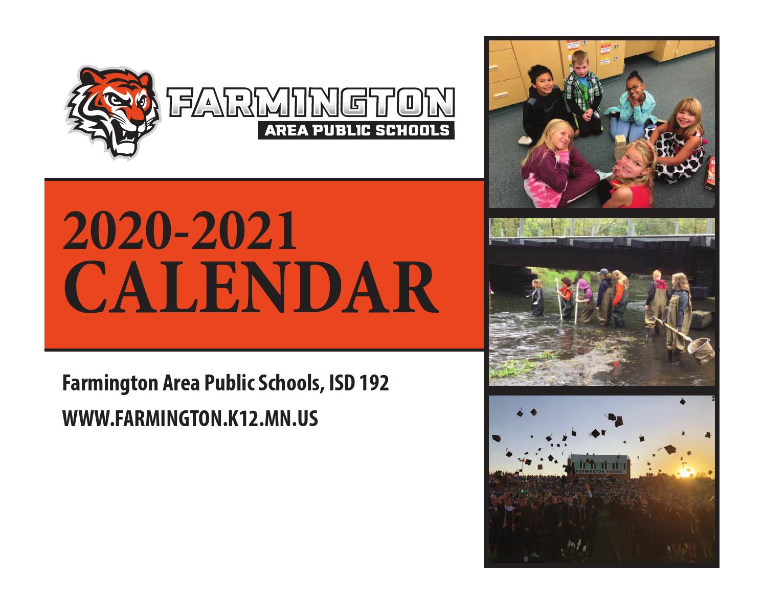 Farmington Ct School Calendar 2021-2022 Farmington Area Public Schools 2020 2021 Calendar by Sally