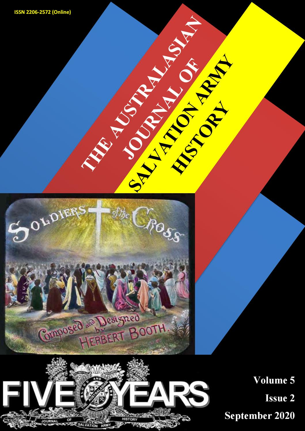 Australasian Journal Of Salvation Army History Volume 5 Issue 2 By The Salvation Army Issuu