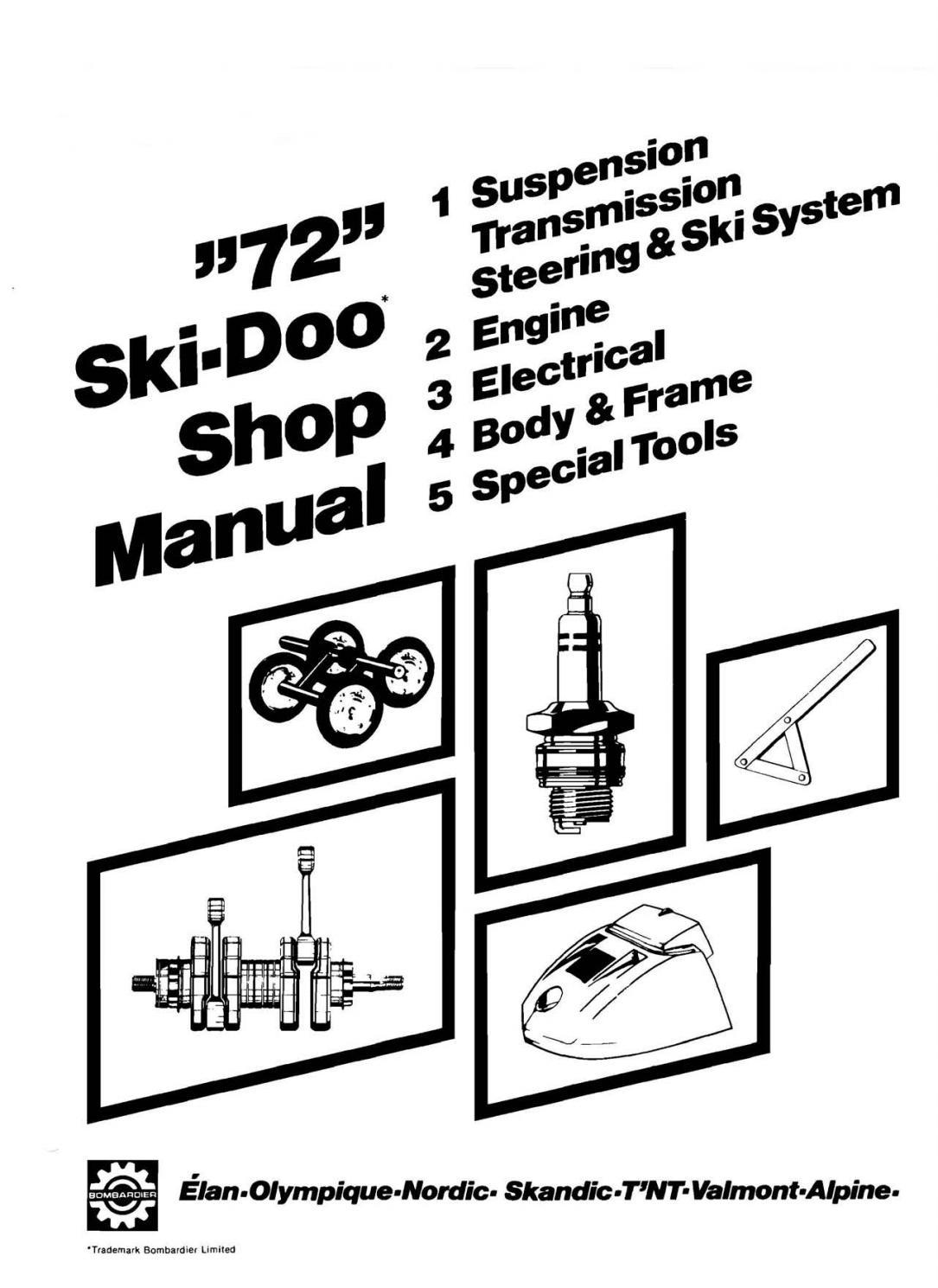 1972 1973 Bombardier Ski Doo Snowmobile Repair Shop Manual Download Pdf By Heydownloads Issuu