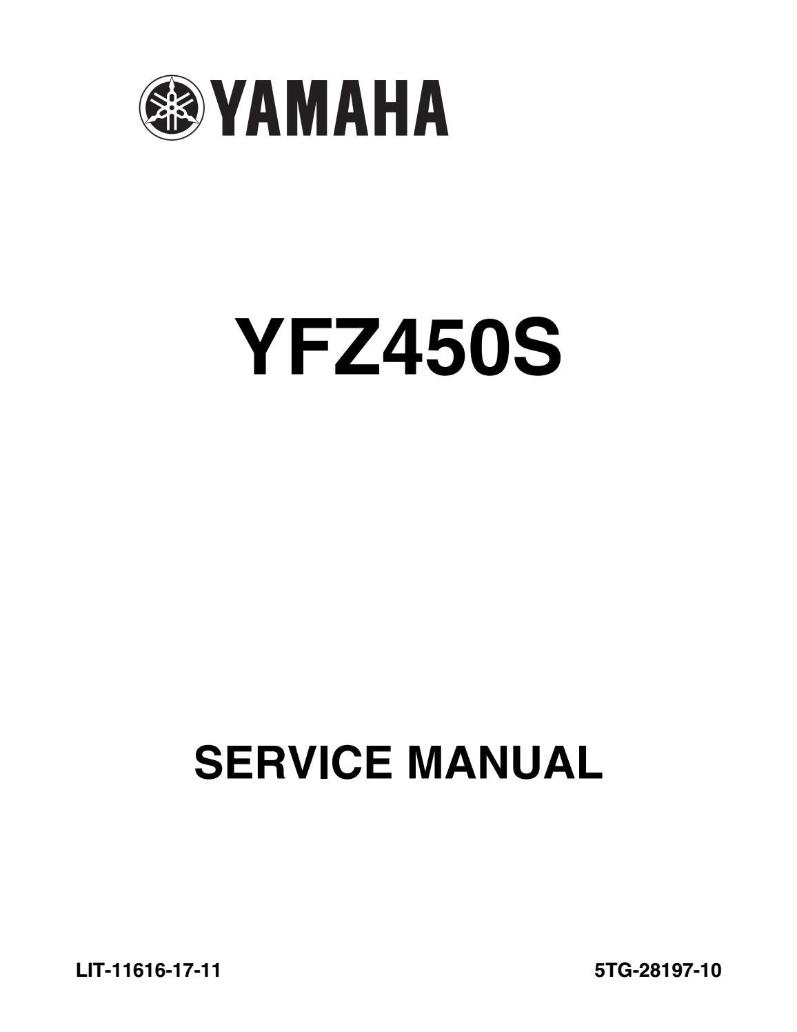 2004 2013 yamaha yfz 450 atv service repair manual yfz450 highly detailed  fsm pdf preview by heydownloads - issuu  issuu