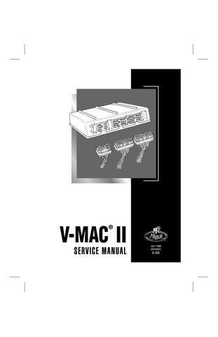 Mack Vmac Ii V Mac 2 Service Manual Pdf Download By Heydownloads Issuu