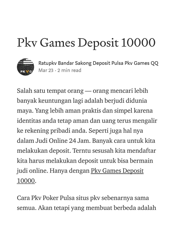Ratupkv Daftar Situs Judi Bandar Sakong Deposit Pulsa 10rb By Situs Sakong Pkv Games Deposit Pulsa Ratupkv Issuu
