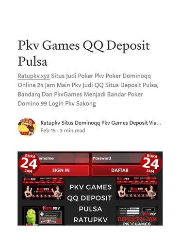 Ratupkv Daftar Situs Judi Pkv Deposit Via Pulsa By Situs Sakong Pkv Games Deposit Pulsa Ratupkv Issuu