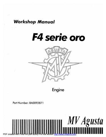 Mv Agusta F4 750 Serie Oro Engine Workshop Service Manual By Heydownloads Issuu
