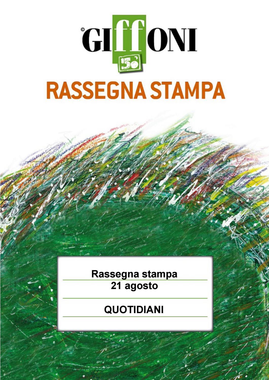 Rassegna Stampa 21 Agosto Giffoni50 By Giffoni Experience Issuu