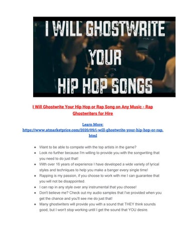 popular ghostwriters for hire gb