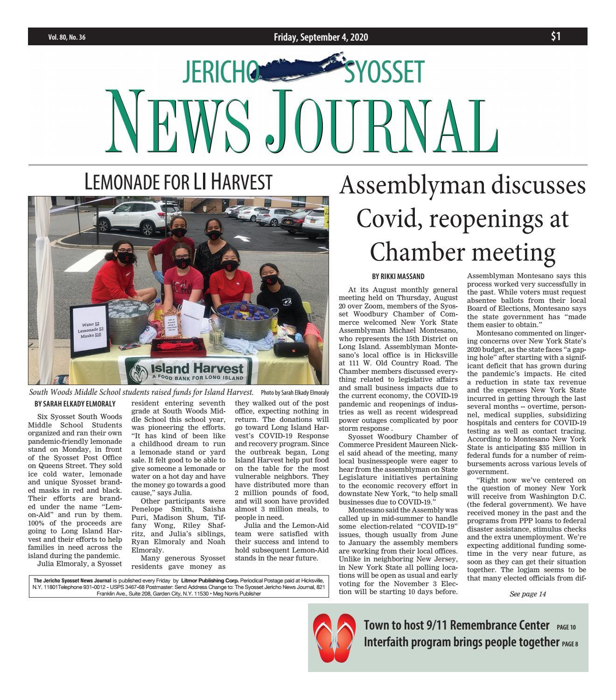Jericho Syosset News Journal 9 4 20 By Litmor Publishing Issuu