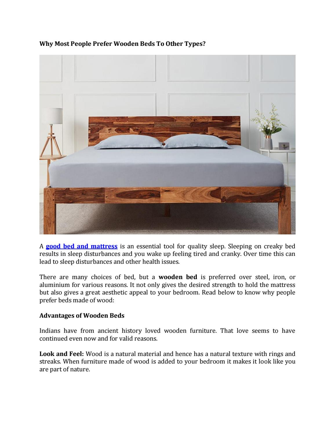 Why Most People Prefer Wooden Beds To Other Types By Wakefitmattress Issuu