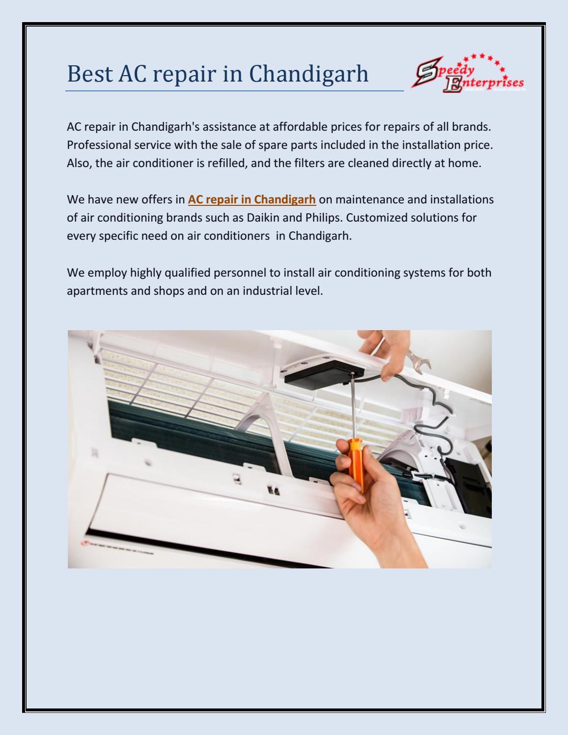 Best AC repair in Chandigarh  - Speedy Enterprise