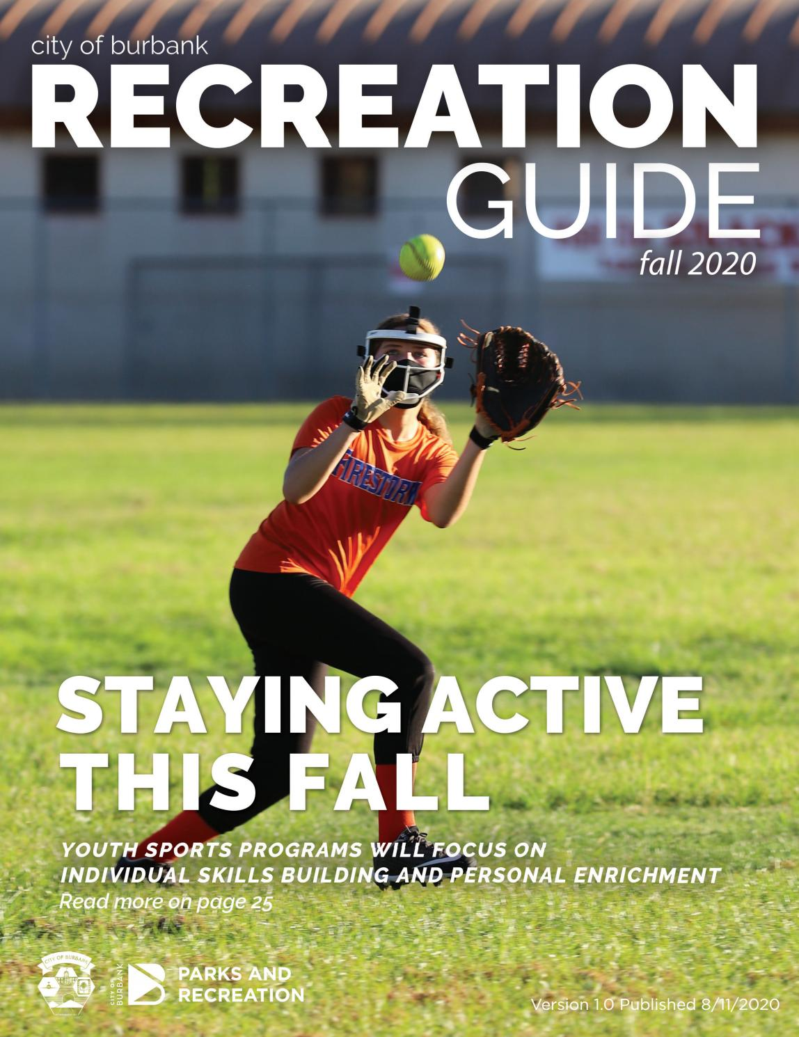 Fall 2020 Recreation Guide By Burbank Parks And Recreation Issuu