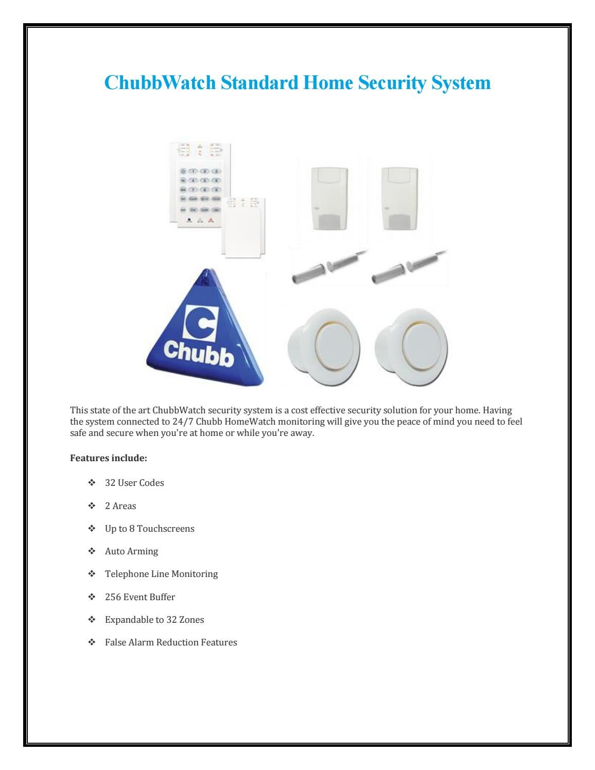 Chubbwatch Standard Home Security System By Chubb Security Issuu