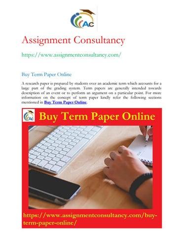 Buy Term Paper Online