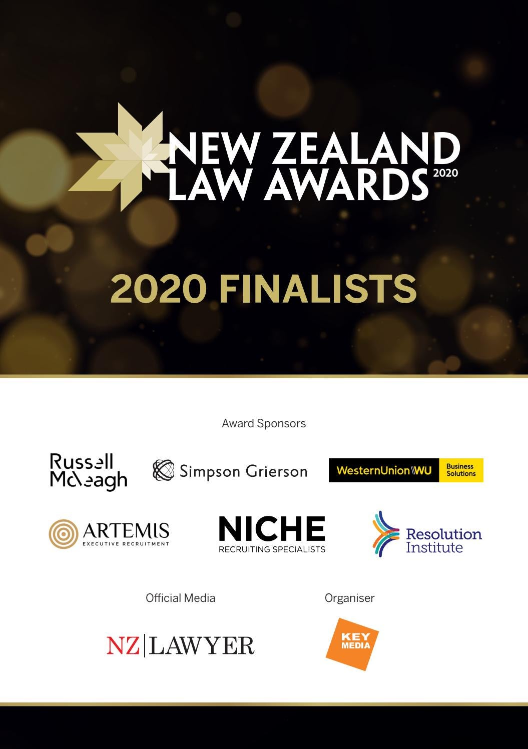 New Zealand Law Awards 2020 Finalists eBook