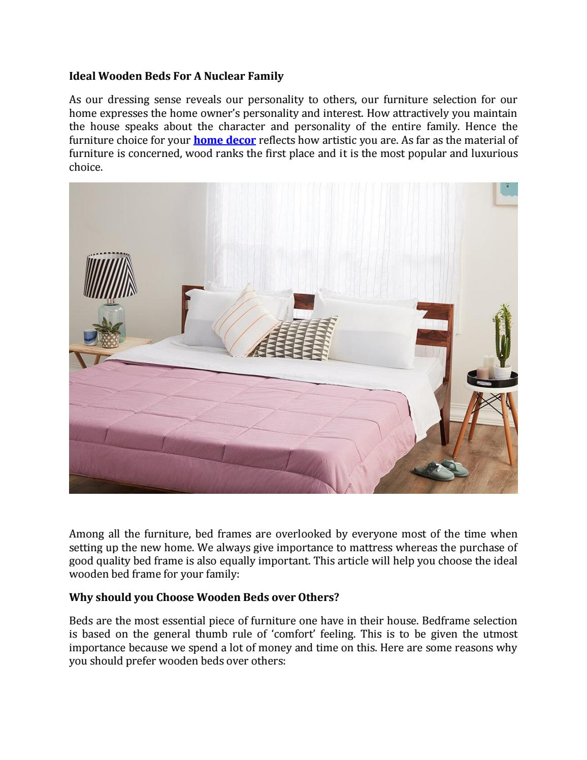 Ideal Wooden Beds For A Nuclear Family By Wakefitmattress Issuu