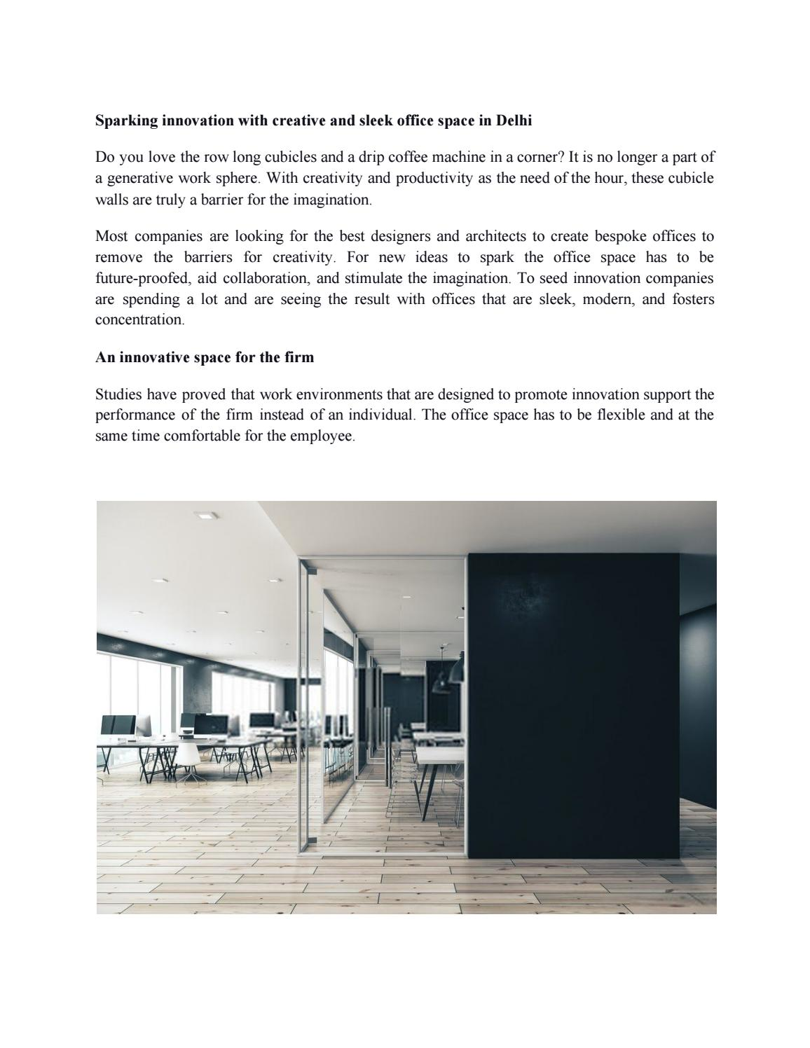 Sparking Innovation With Creative And Sleek Office Space In Delhi By Koel Mishra Issuu