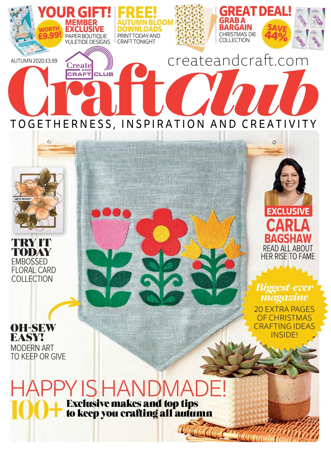 Create and Craft Club Magazine   Autumn 20 Issue UK by ...