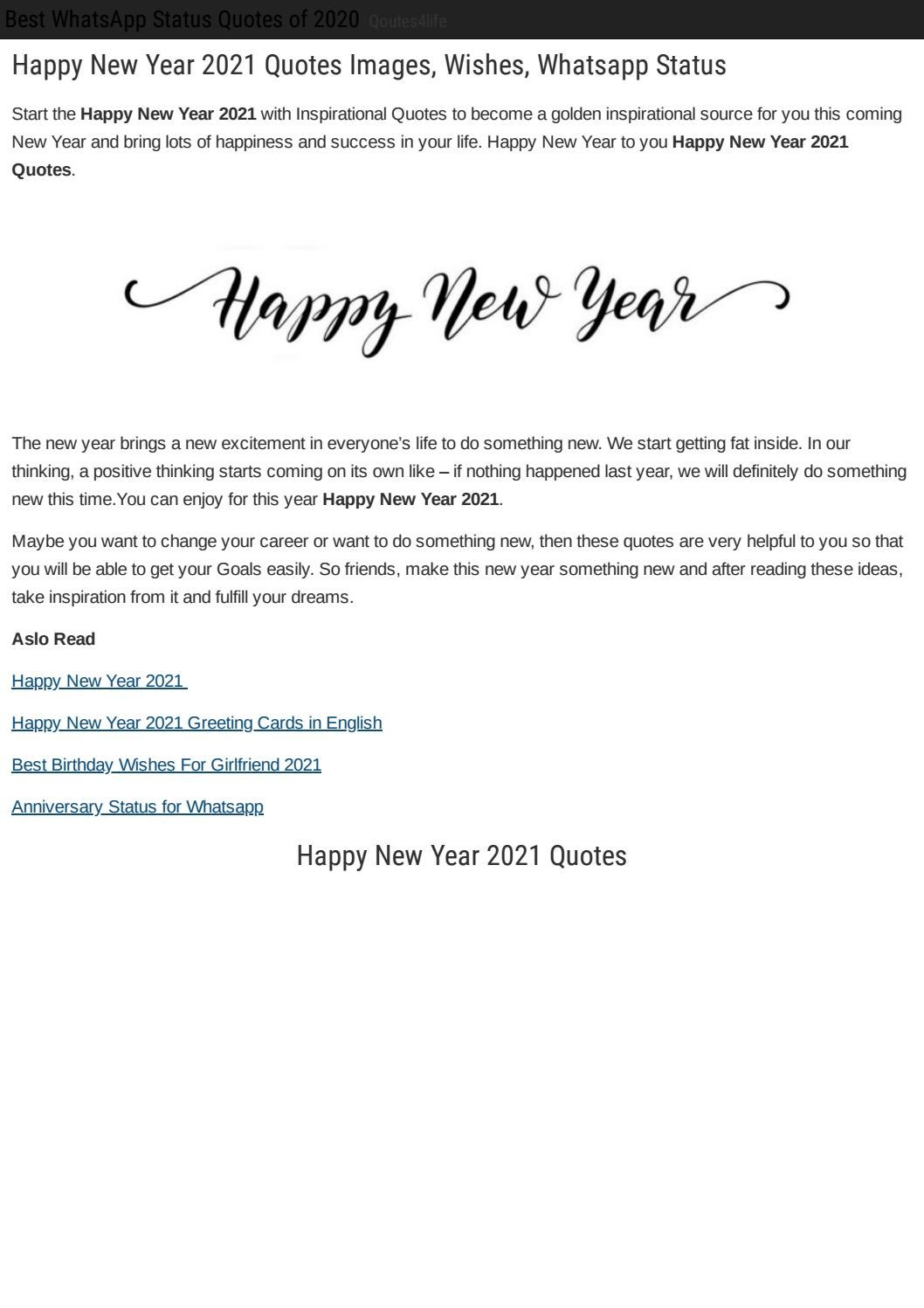 Happy New Year 2021 By Zainmalik Issuu
