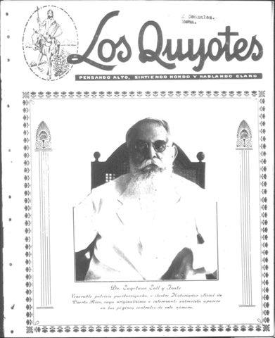 Los Quijotes 21 Ago 1926 By La Colección Puertorriqueña Issuu