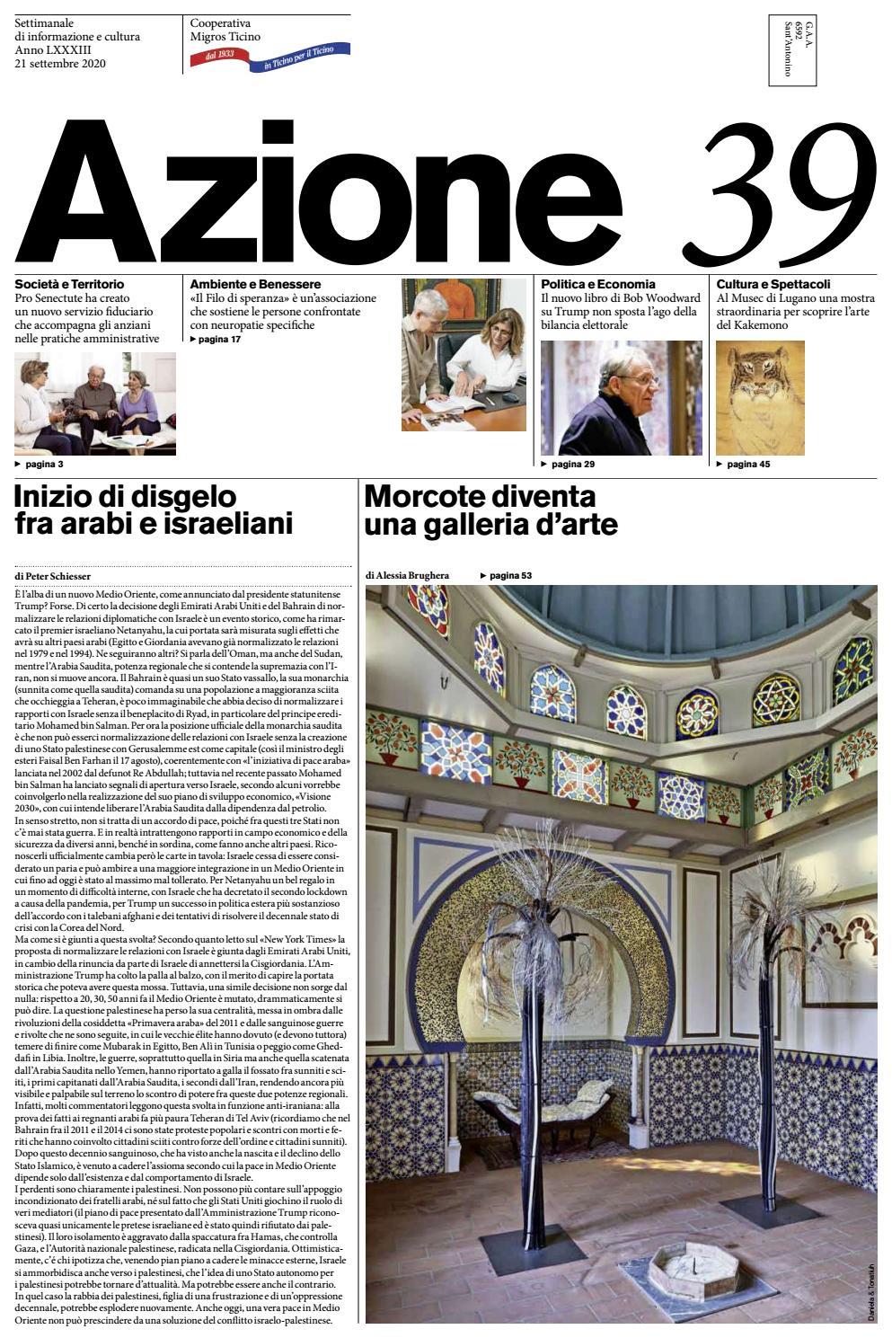 Azione 39 Del 21 Settembre 2020 By Azione Settimanale Di Migros Ticino Issuu