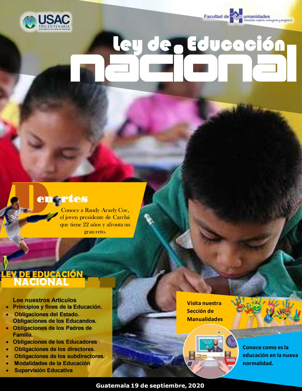 Revista Ley De Educacion Nacional By Bryan Diaz Issuu