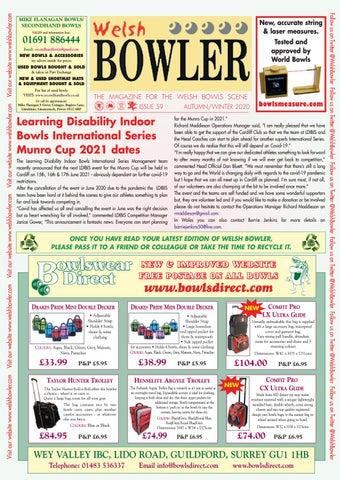 Welsh Bowler Autumn/Winter 2020 by BL Journals   issuu