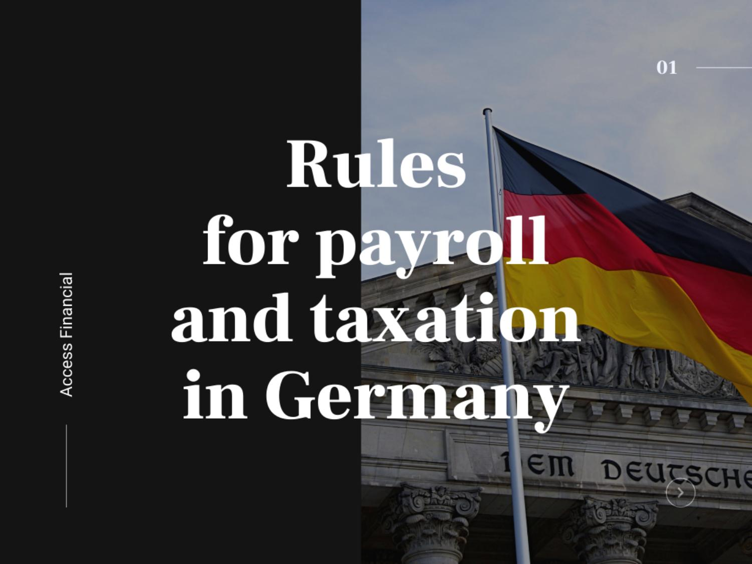 Rules for payroll and taxation in Germany