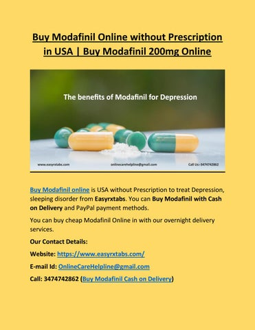 Modafinil No Prescription Online