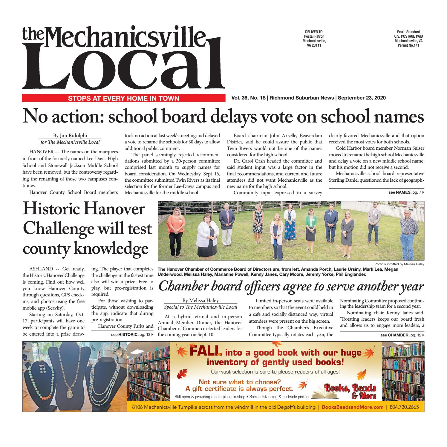 The Mechanicsville Local 09 23 2020 By The Mechanicsville Local Issuu