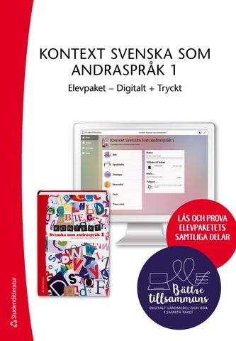 Kontext Svenska som andraspråk 1 Elevpaket Digitalt + Tryckt