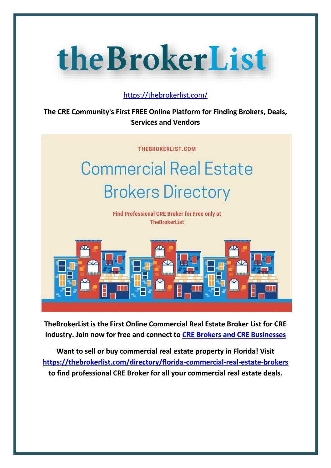Commercial Real Estate Broker Directory