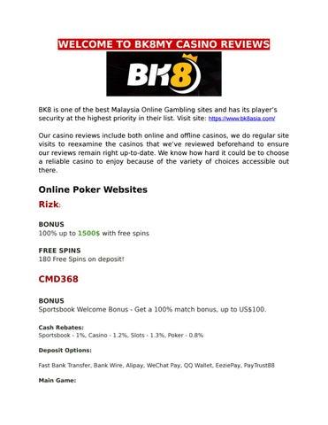 Malaysia Online Gambling Bk8asia By Bk8my Issuu