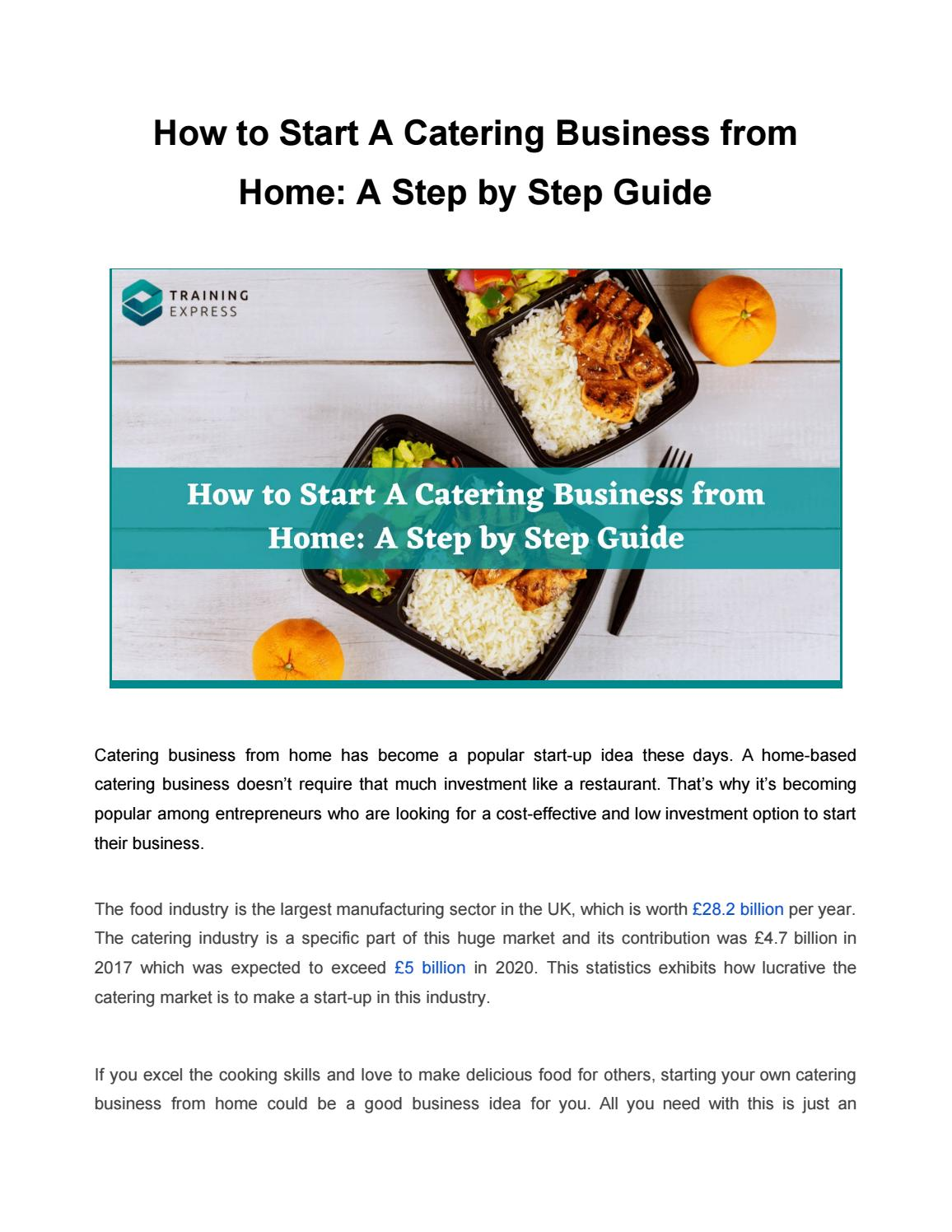 How To Start A Catering Business From