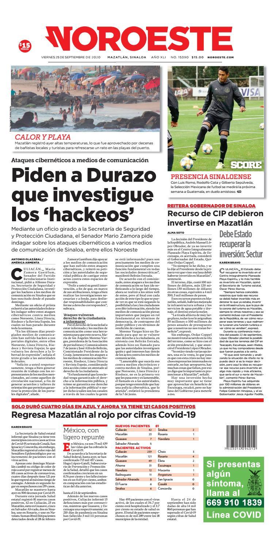 Mazatlán25092020 by Noroeste - issuu