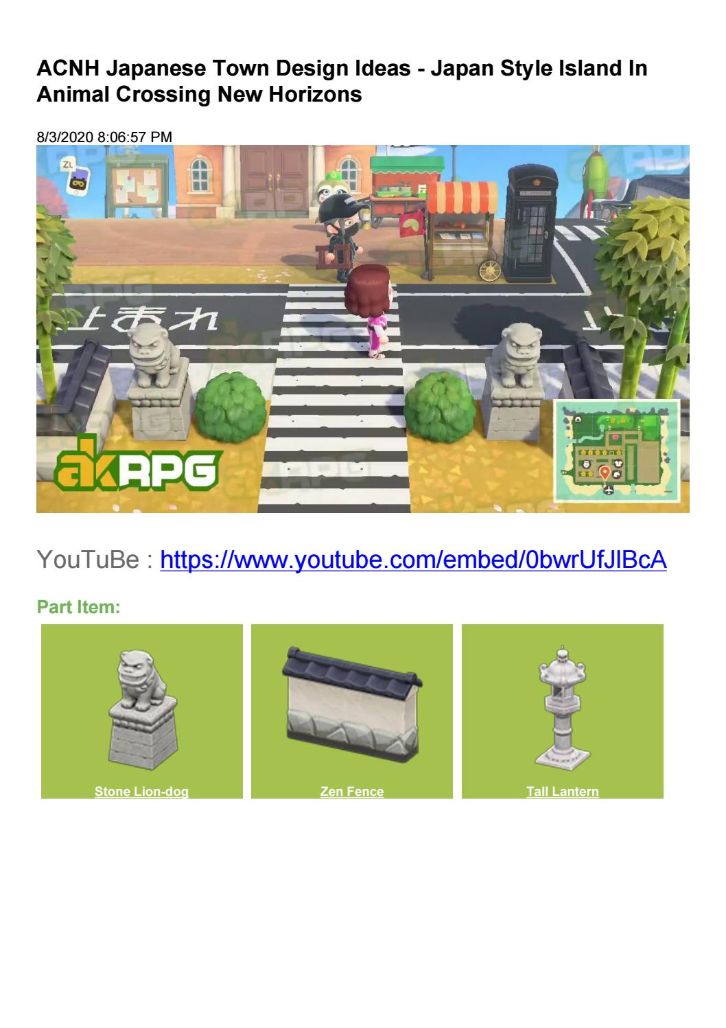 Animal Crossing New Horizons Japanese Town Design Ideas By Akrpg Issuu