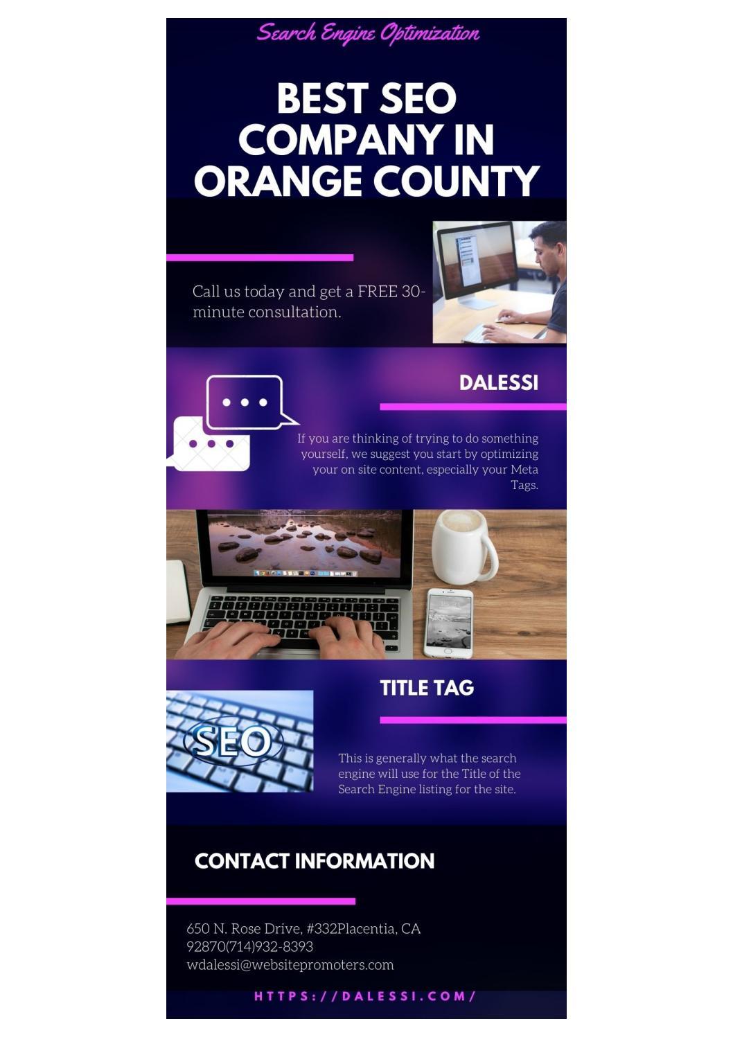 Best Seo Company in Orange County- www.dalessi.com