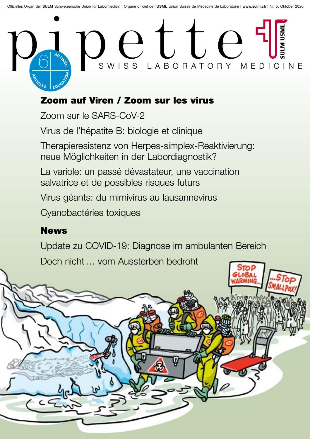 Pipette–Swiss Laboratory Medicine, Nr. 40 40 Zoom auf Viren ...