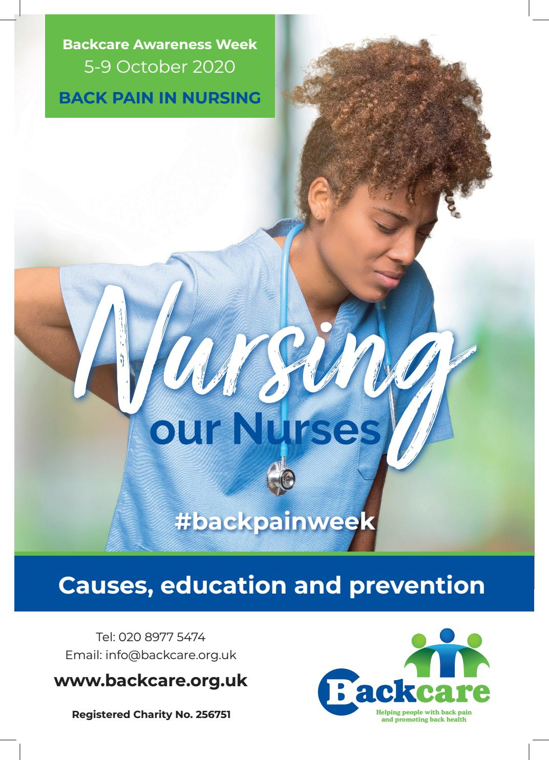 Back Pain in Nursing A3 Poster by BackCare - issuu