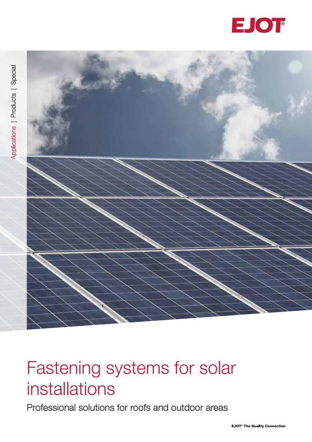 Solar Fastening Eng By Ejotsverige Issuu