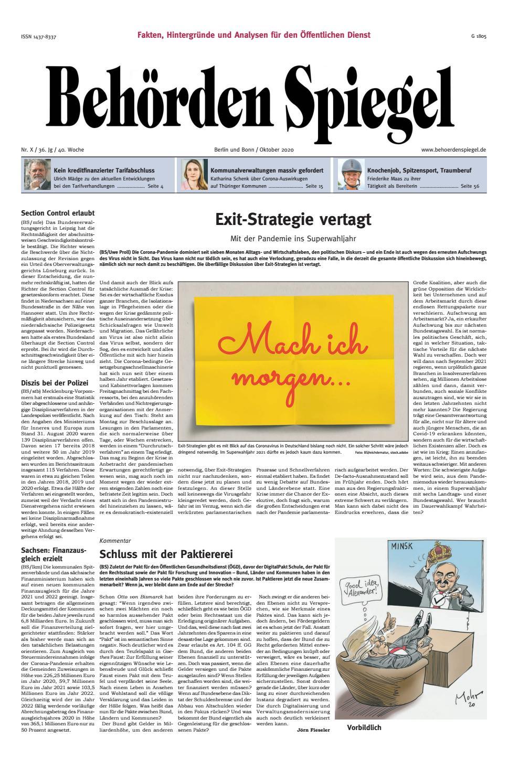 Behörden Spiegel Oktober 25 by propress   issuu