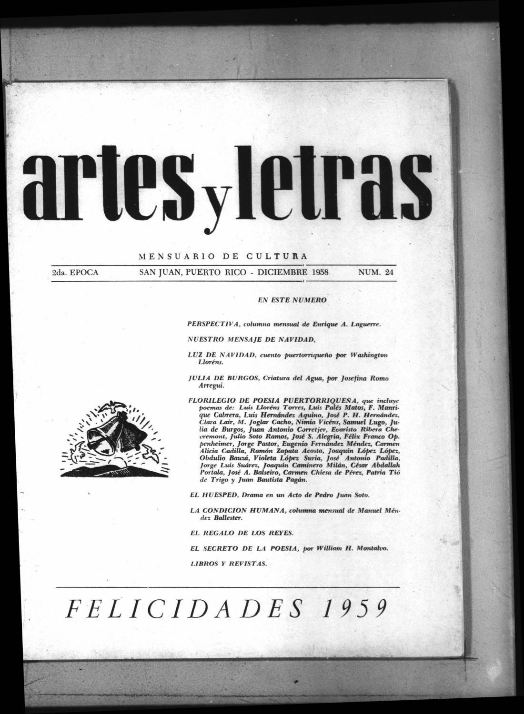 Artes Y Letras Dic 1958 By La Colección Puertorriqueña Issuu