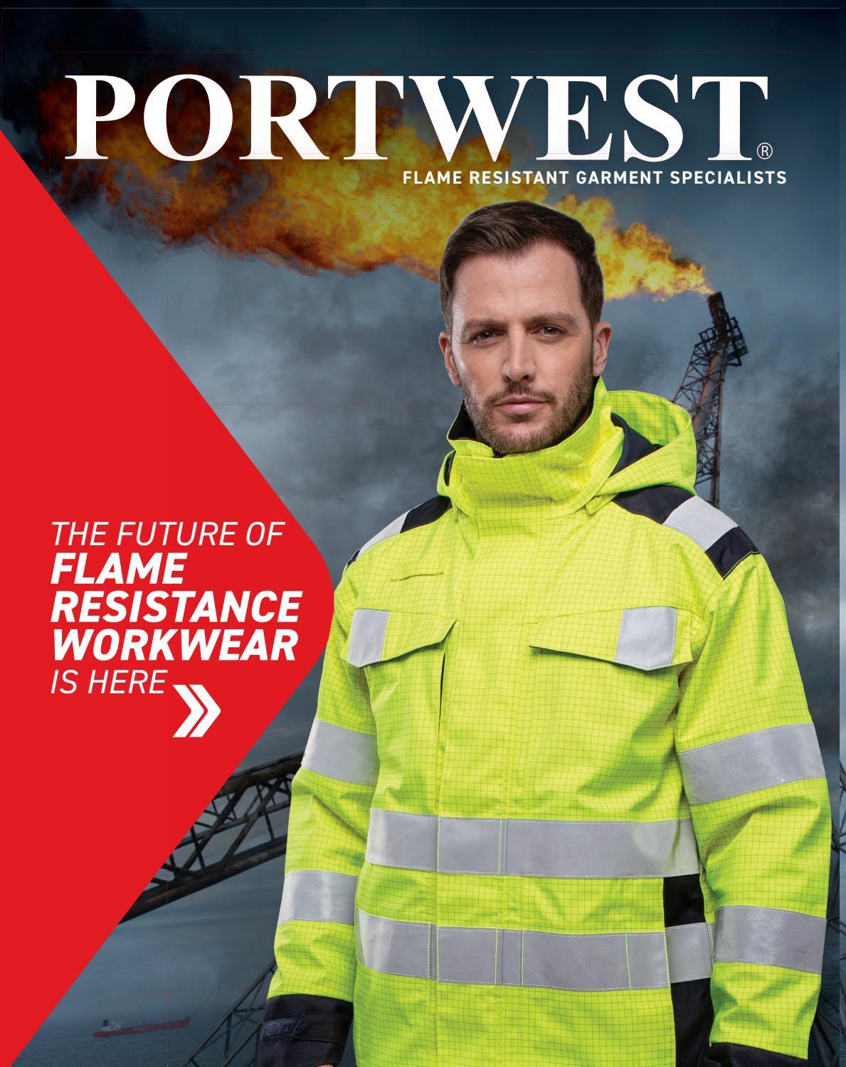 Portwest Hi-Vis Vest Flame Resistant FR75 Case of 5