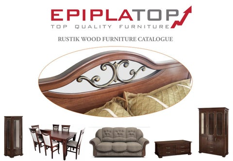 Epiplatop Furniture. Κατάλογος «Rustik Wood Furniture Catalogue»
