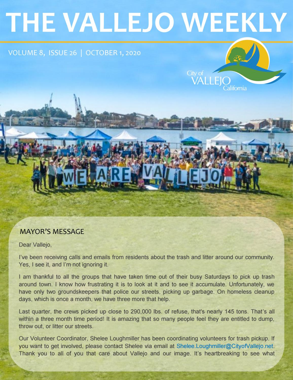 The Vallejo Weekly | Volume 8, Issue 26 by cityofvallejo   issuu