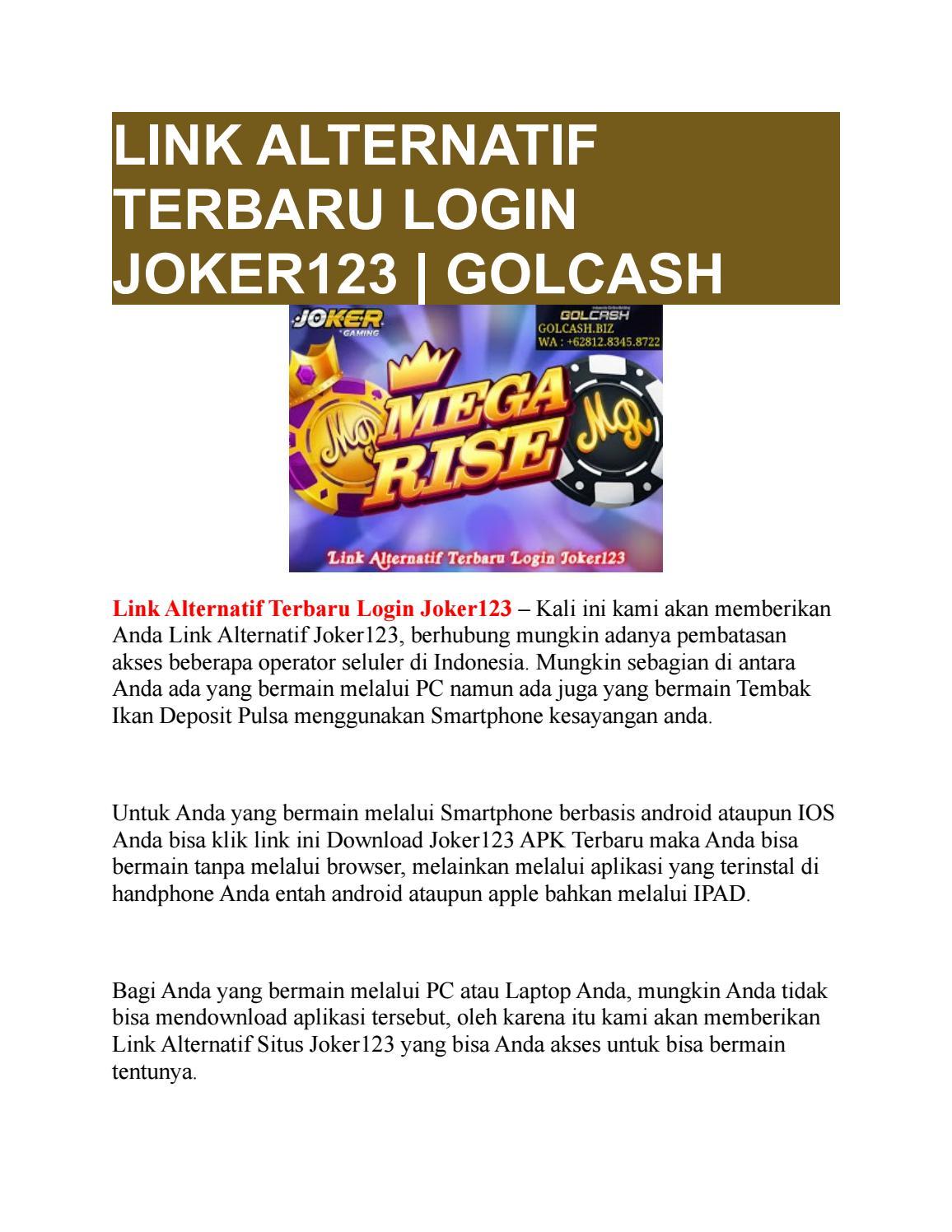 Link Alternatif Terbaru Login Joker123 Golcash By Golcash Issuu