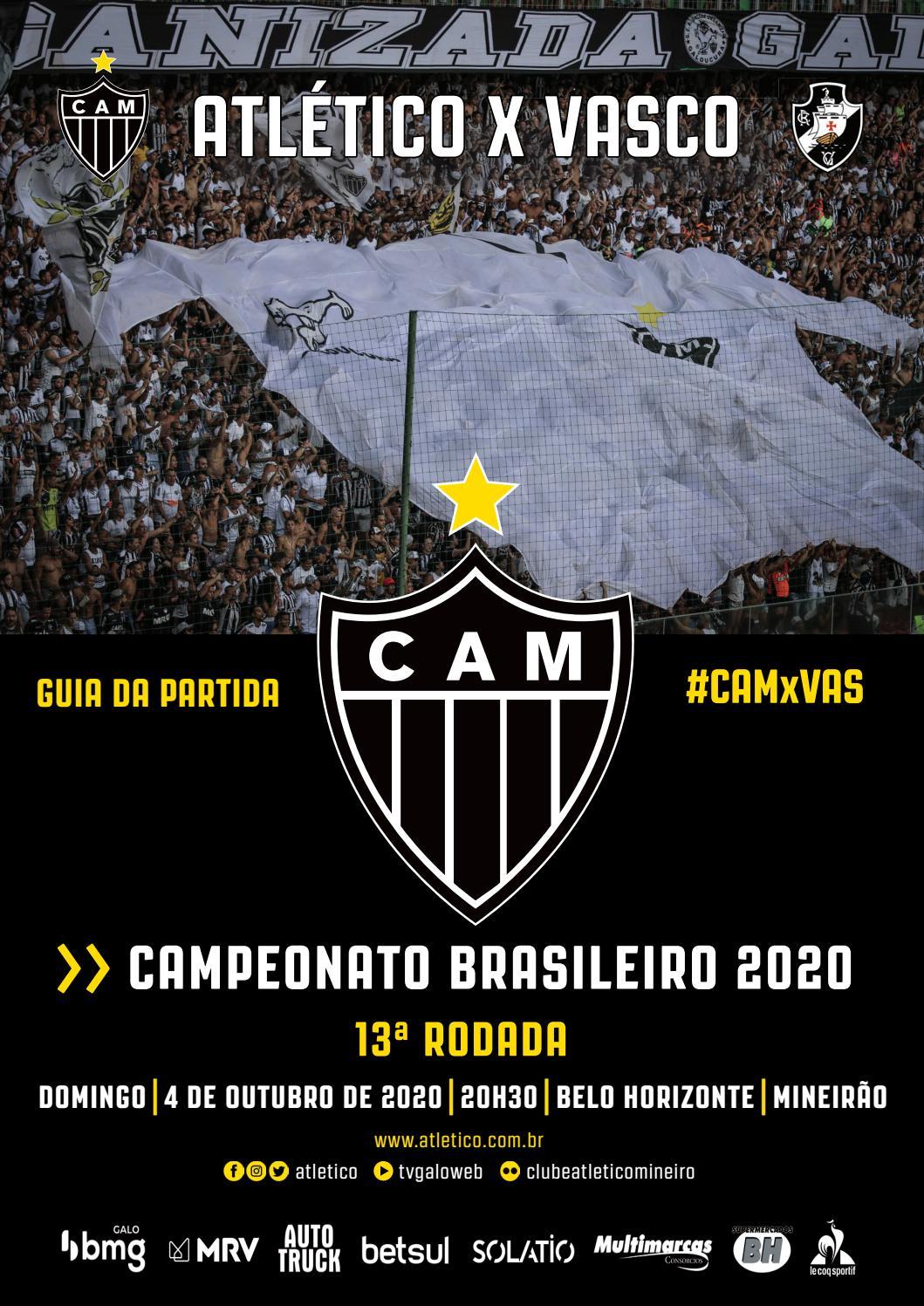 Guia Da Partida Atletico X Vasco Brasileirao 2020 13ª Rodada By Clube Atletico Mineiro Issuu